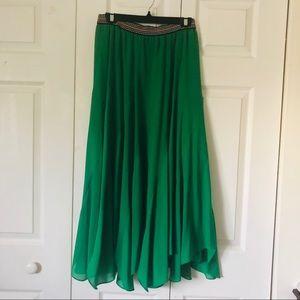 Anthropologie Kelly Green Maxi Skirt